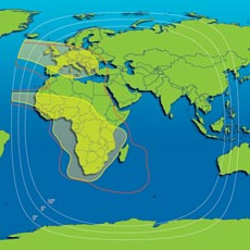 Intelsat 601 Hemisphere Coverage