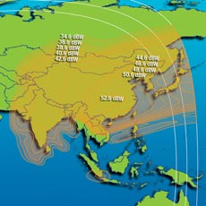 Intelsat IS-7 Ku-band China Beam