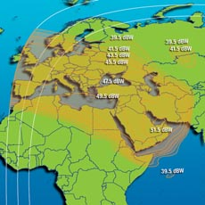 Intelsat IS-7 Ku-band Europe / Middle East Beam