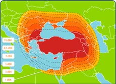 Turksat 3A Ku-band Turkey Spot Beam